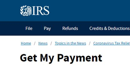 IRS Get My Payment website