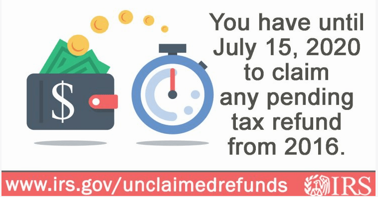 Get your refund before it's too late!